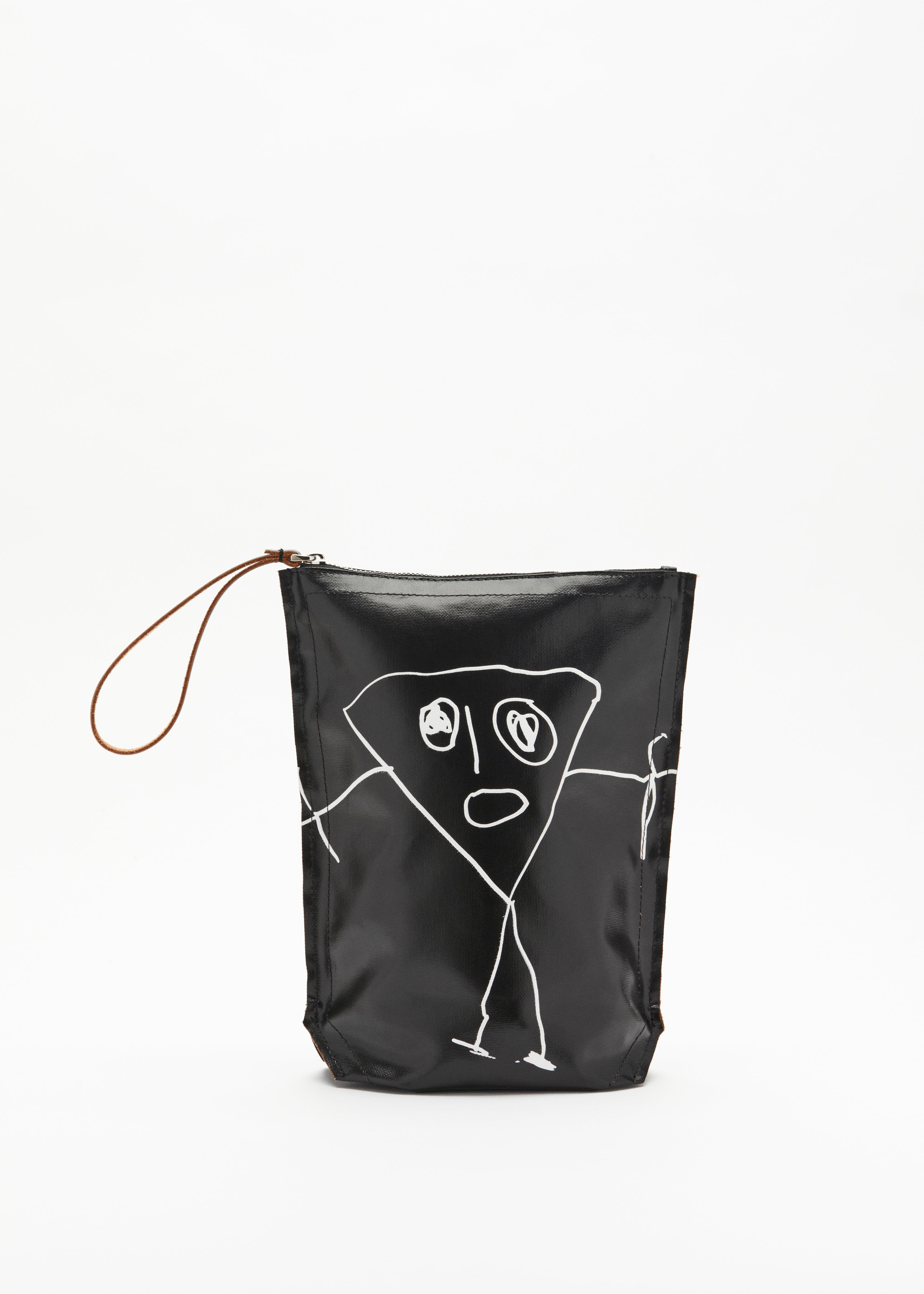 """PILI AND BIANCA"" BLACK POUCH"