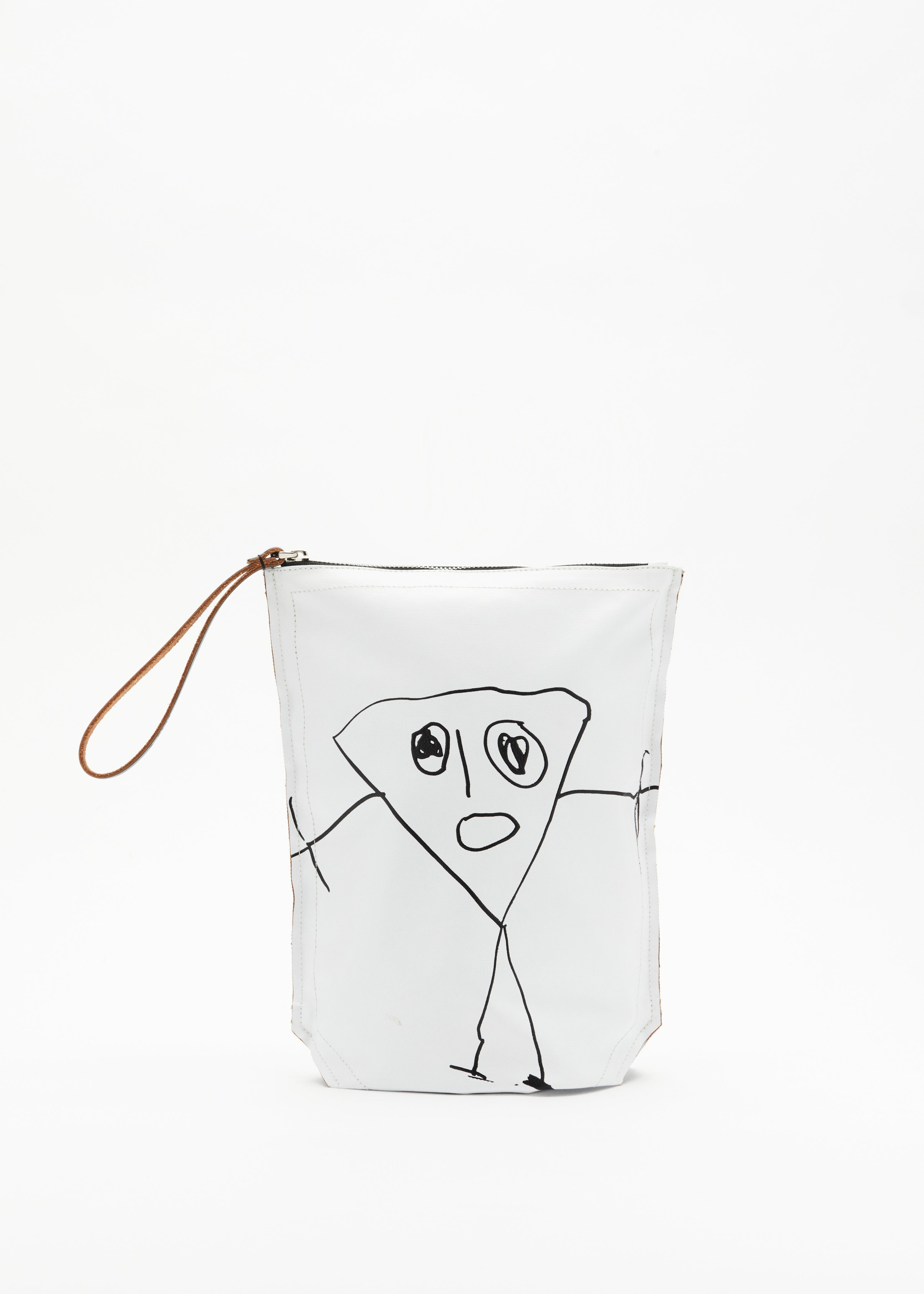 """PILI AND BIANCA"" WHITE POUCH"