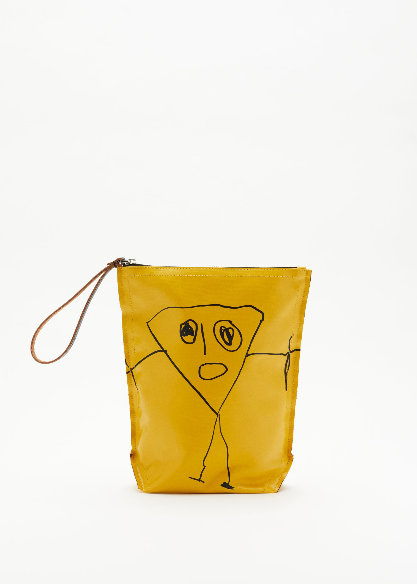 """PILI AND BIANCA"" YELLOW POUCH"