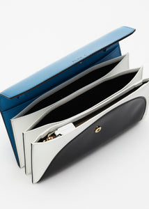 POCHETTE COLOUR BLOCK BLU