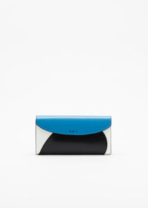 COLOUR BLOCK BLUE WALLET