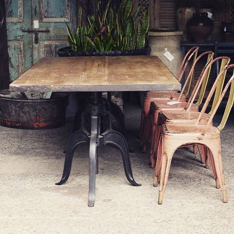Wood & Iron Industrial Table