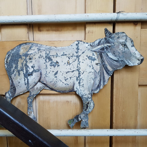 Hand-painted Metal Cow