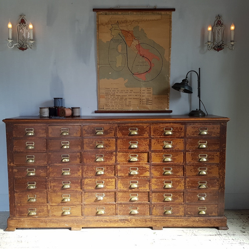 19th C. Bank of Drawers