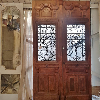 Antique elements, French front doors, 19thC, architectural antiques, byron bay