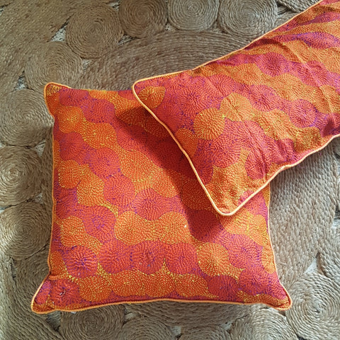 Silk Circle Cushion Cover
