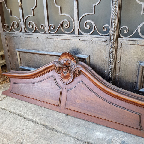 19thC Carved Cedar Header