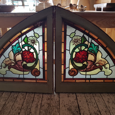 Arched Lead Light Window