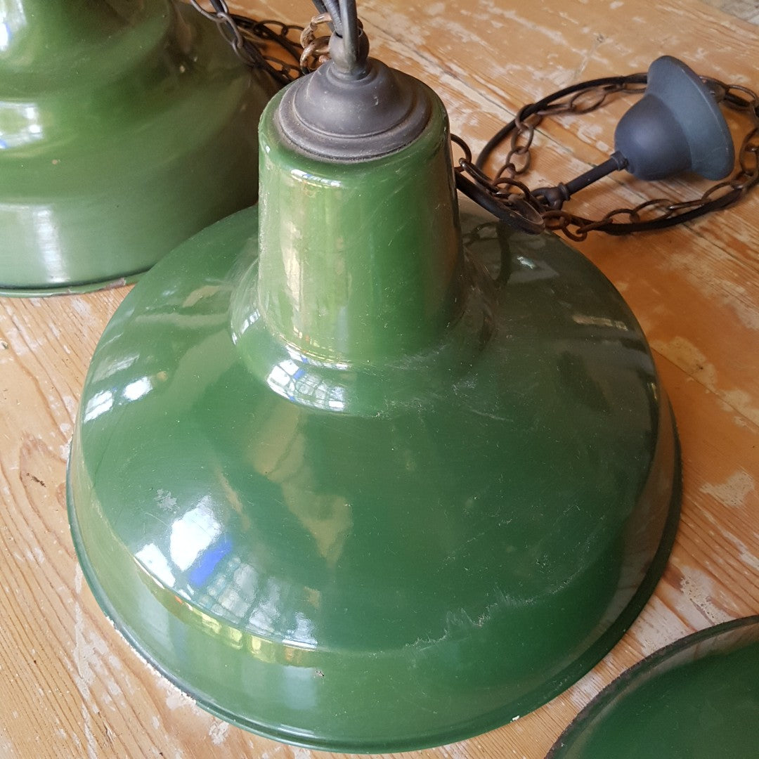 Antique Industrial Green Factory Light