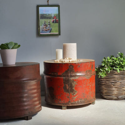 Industrial Drum Stool/Table