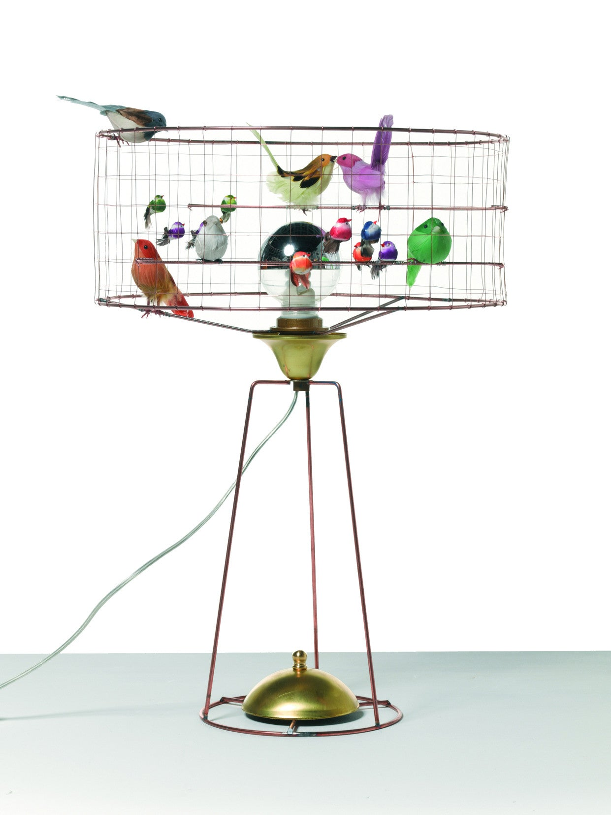 French Bird Table Lamp D