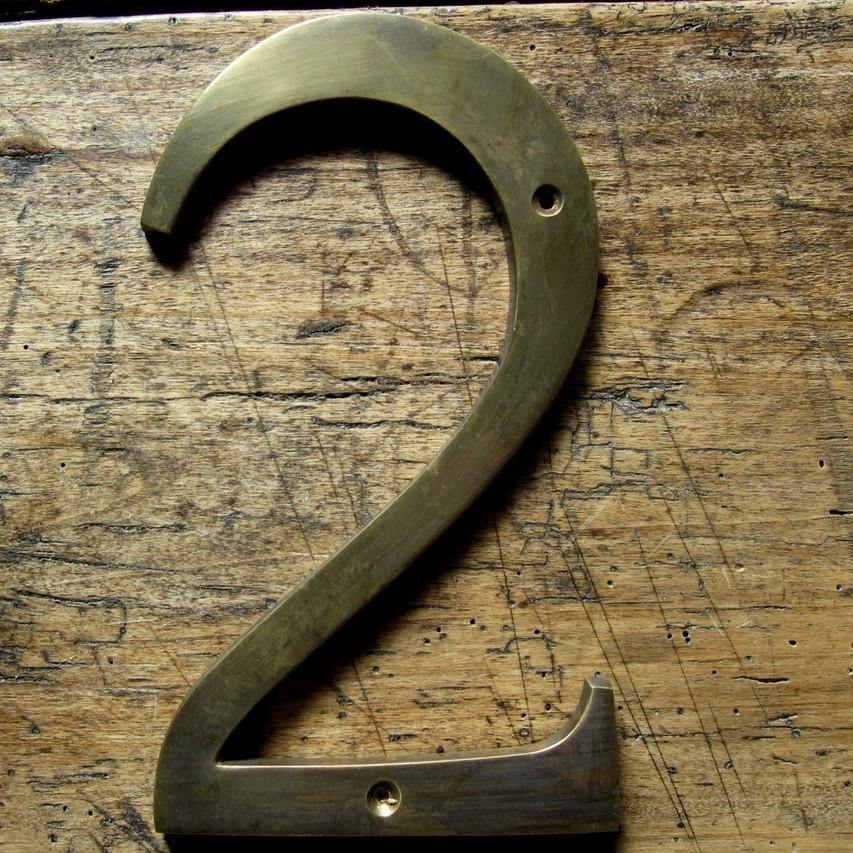 Aged Brass Numbers