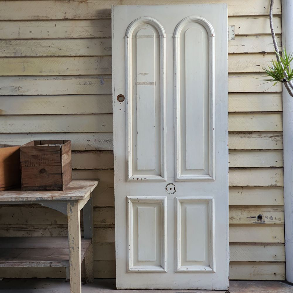 4 panel doors, arched, Antique elements, French front doors, 19thC, architectural antiques, rare finds, antique doors, old doors, salvage, byron bay