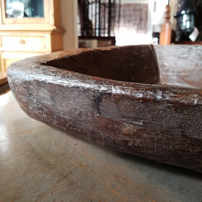 Dark Wooden Rustic Bowl