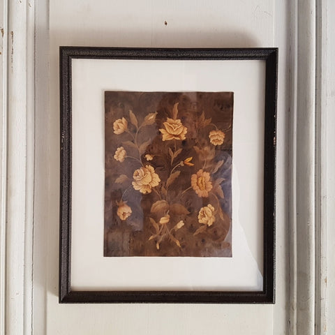 Framed marquetry panels