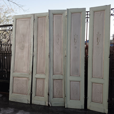 French Painted Salon Doors
