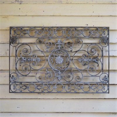 French 19thC Iron Panel