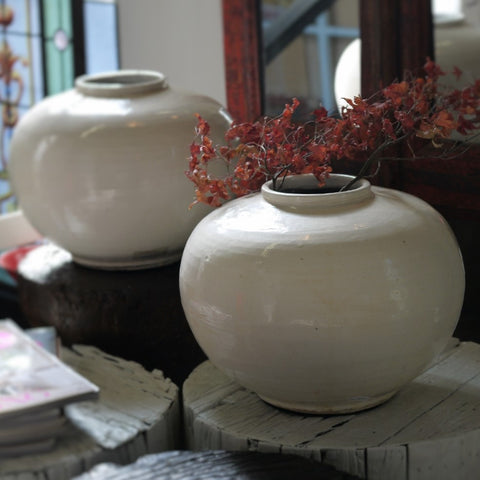 White Ceramic Urns