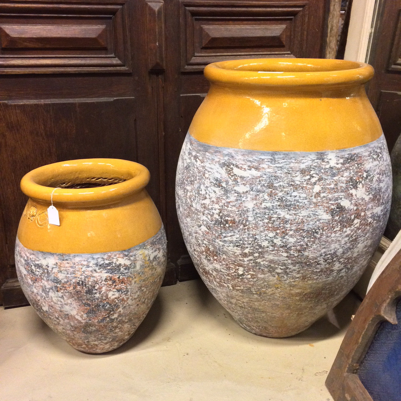 French yellow glaze pot