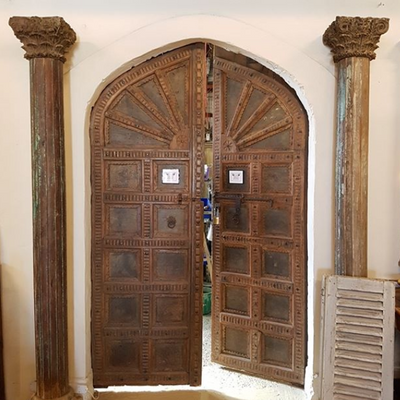 Arched Zinc Indian Doors