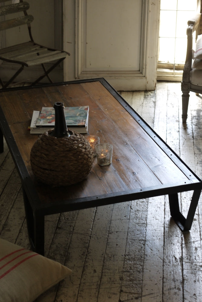 Baltic Pine & Iron  Low Table