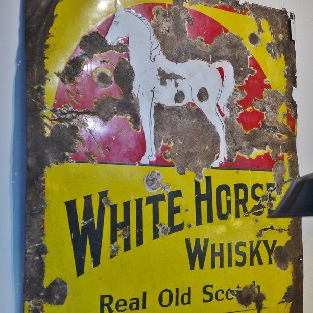 """White Horse"" Whisky Sign"