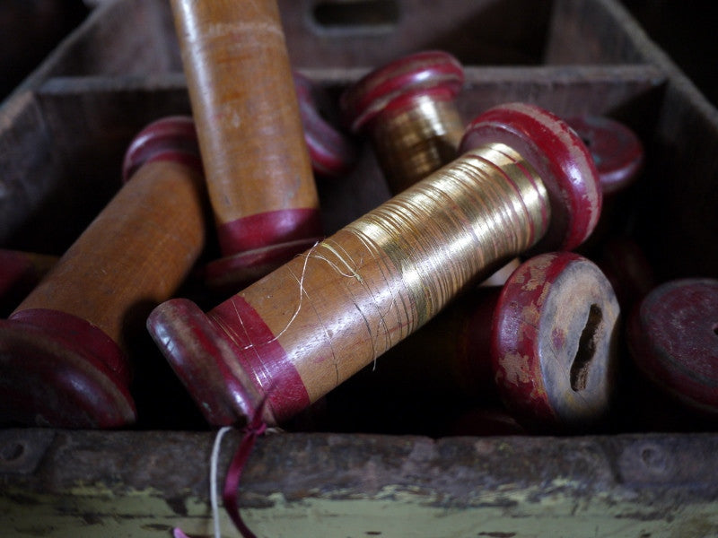 Set of 3 Wooden Bobbins