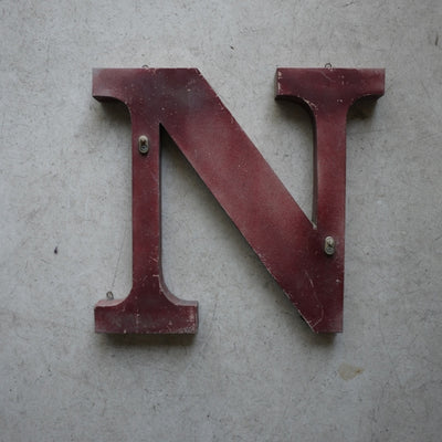 N, French Antique Letters