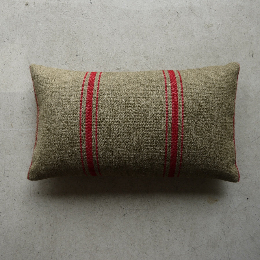 Natural- French Stripe Cushion