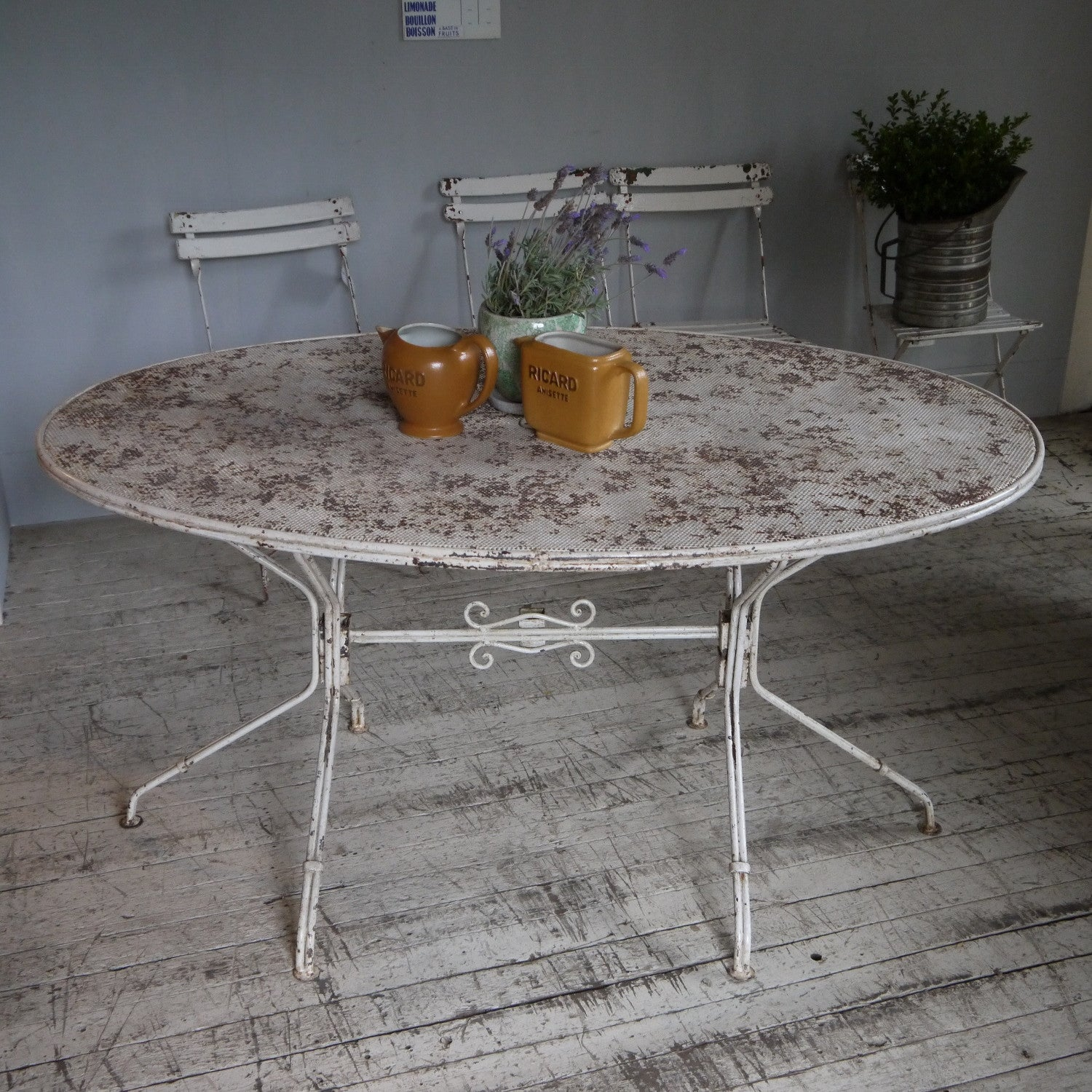 French Iron Cafe table