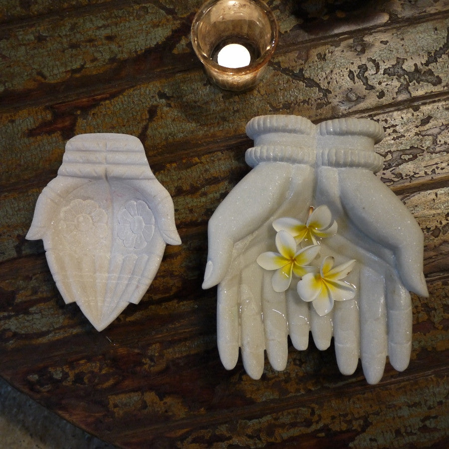 Carved Marble Hands