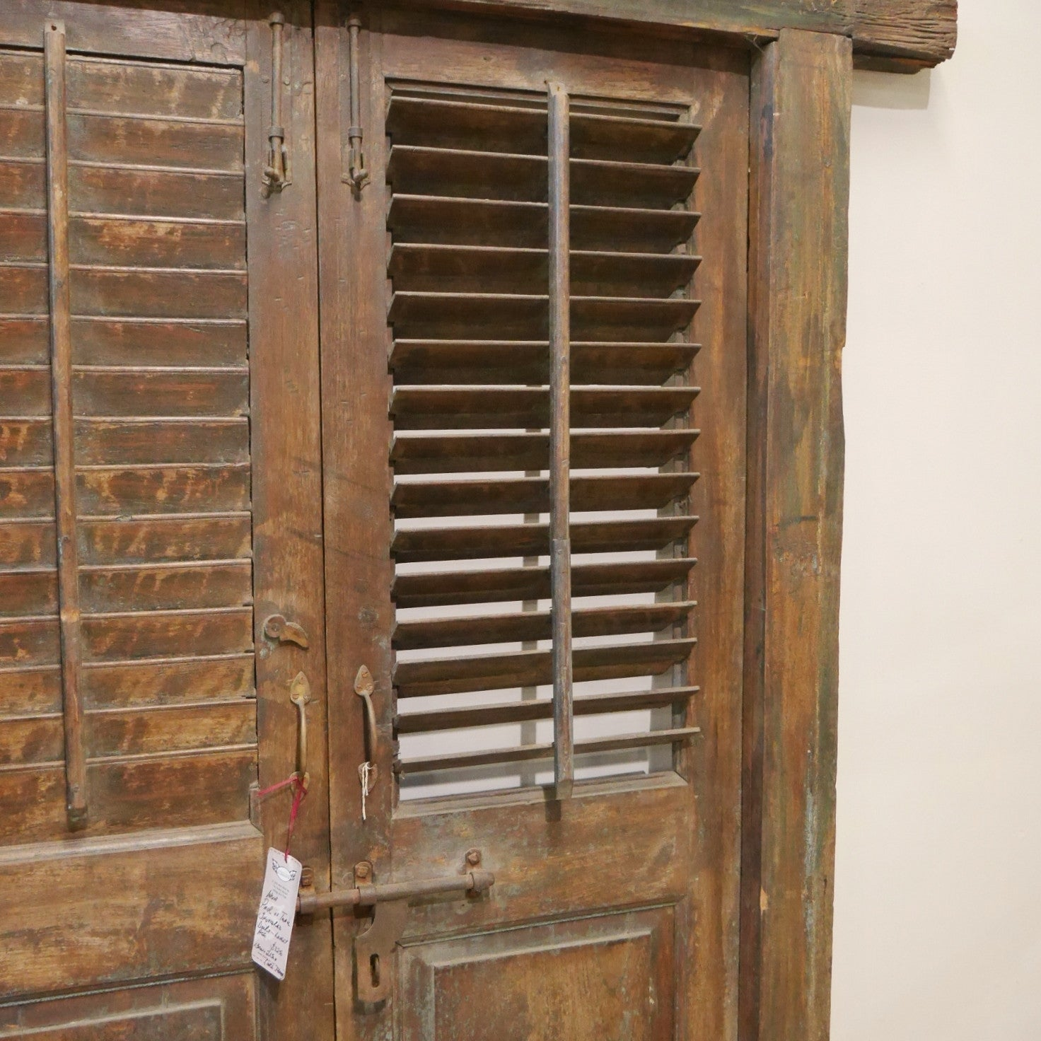 Teak Shuttered Doorset