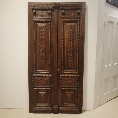 19thC Carved Entry Doors
