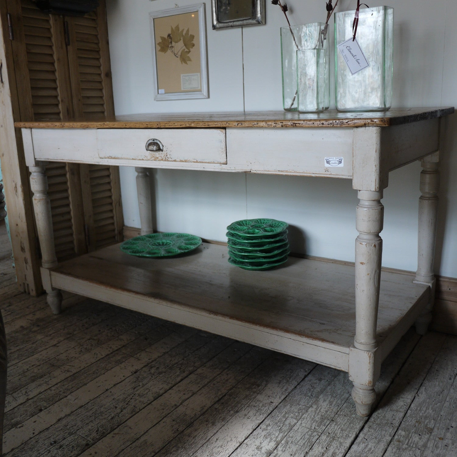 French Bakers Table with Drawer