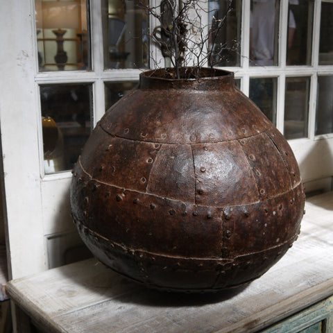 Primitive Iron Urn