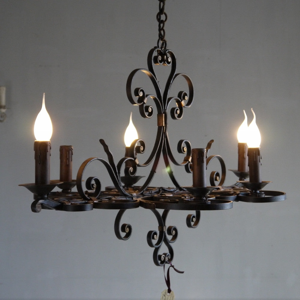 French iron chandelier elements i love french iron chandelier mozeypictures Choice Image