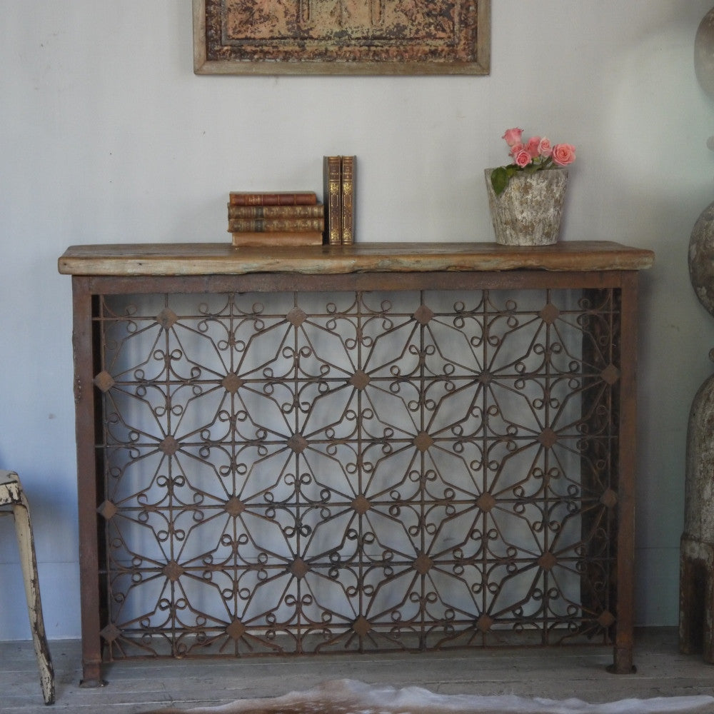 Rustic Iron Console