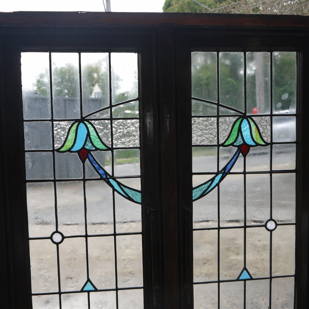 Leadlight Casement Window