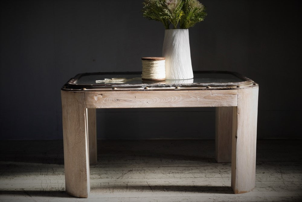 Brass Ship Hatch Table