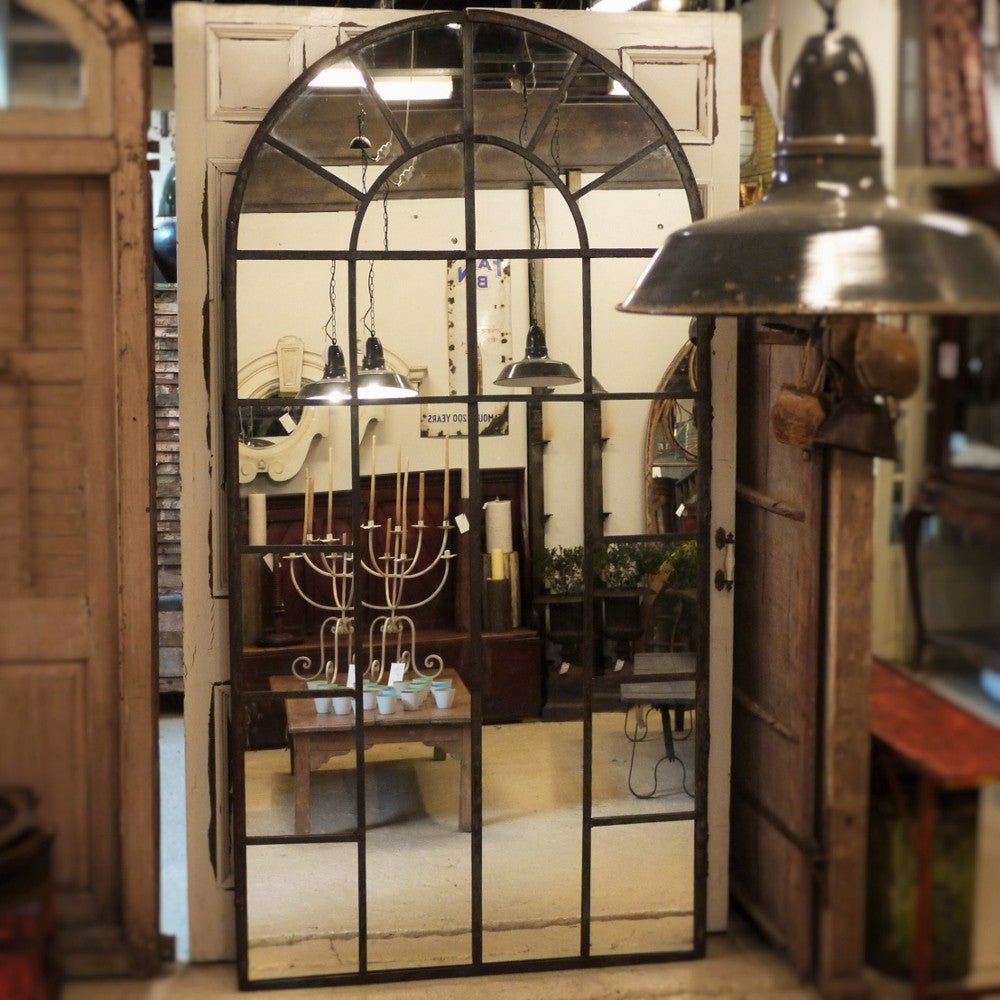 Arched Iron Mirror