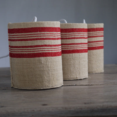 French Raw Linen Pendants