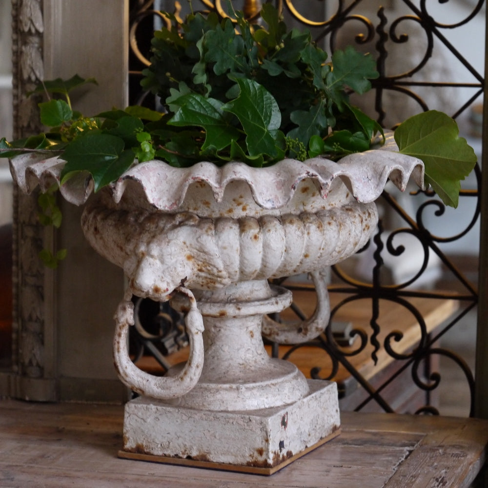 Pair of French Iron Urns