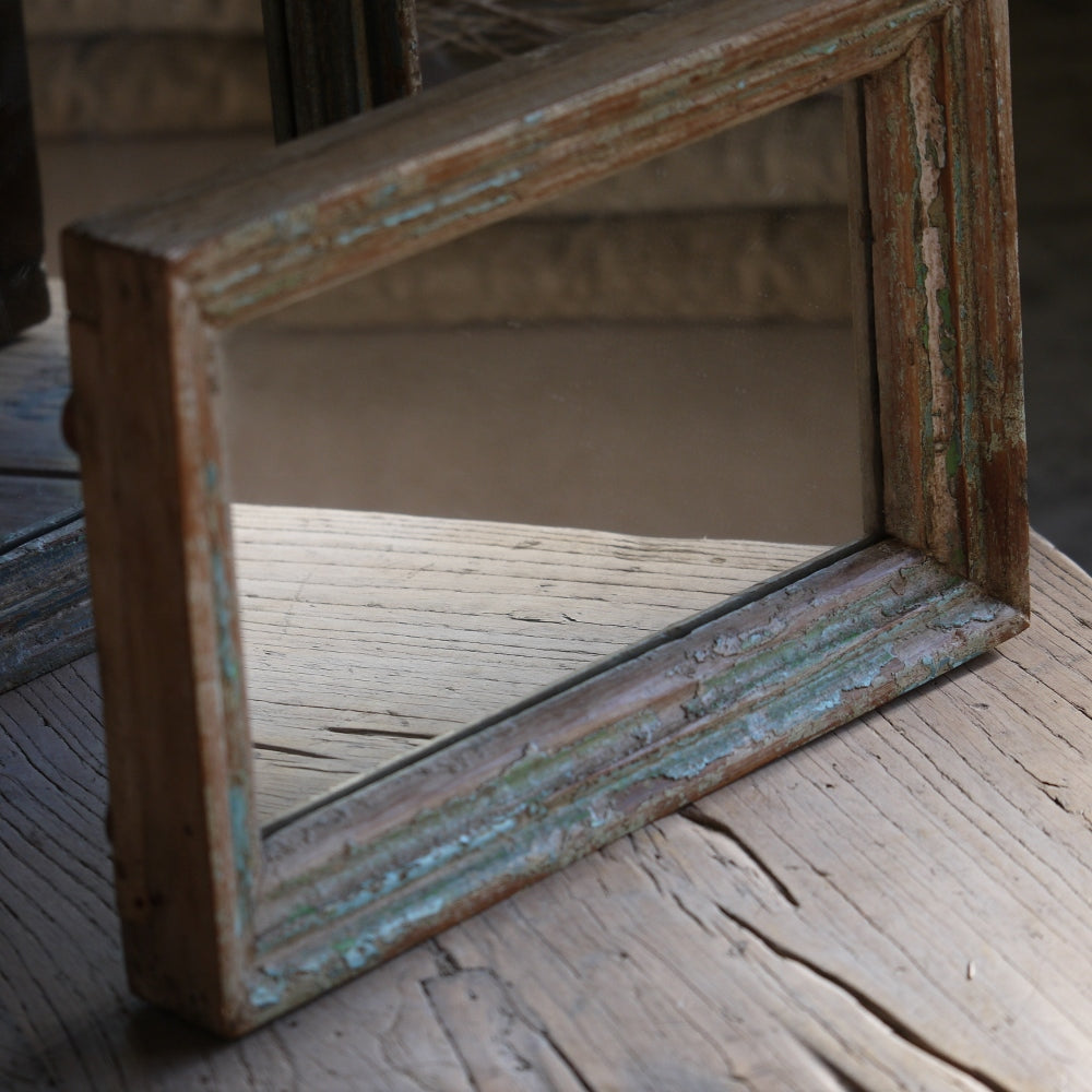 Pair of Beachy Wood Mirrors