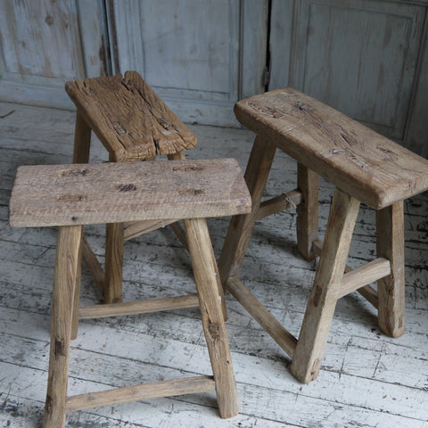 Elm Stool-Square