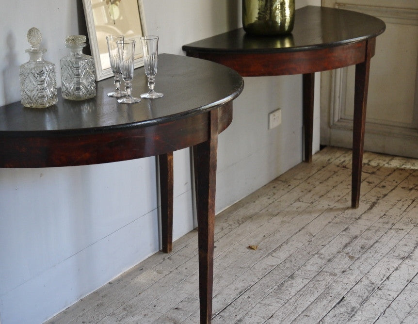 Swedish Demi-Lune Tables