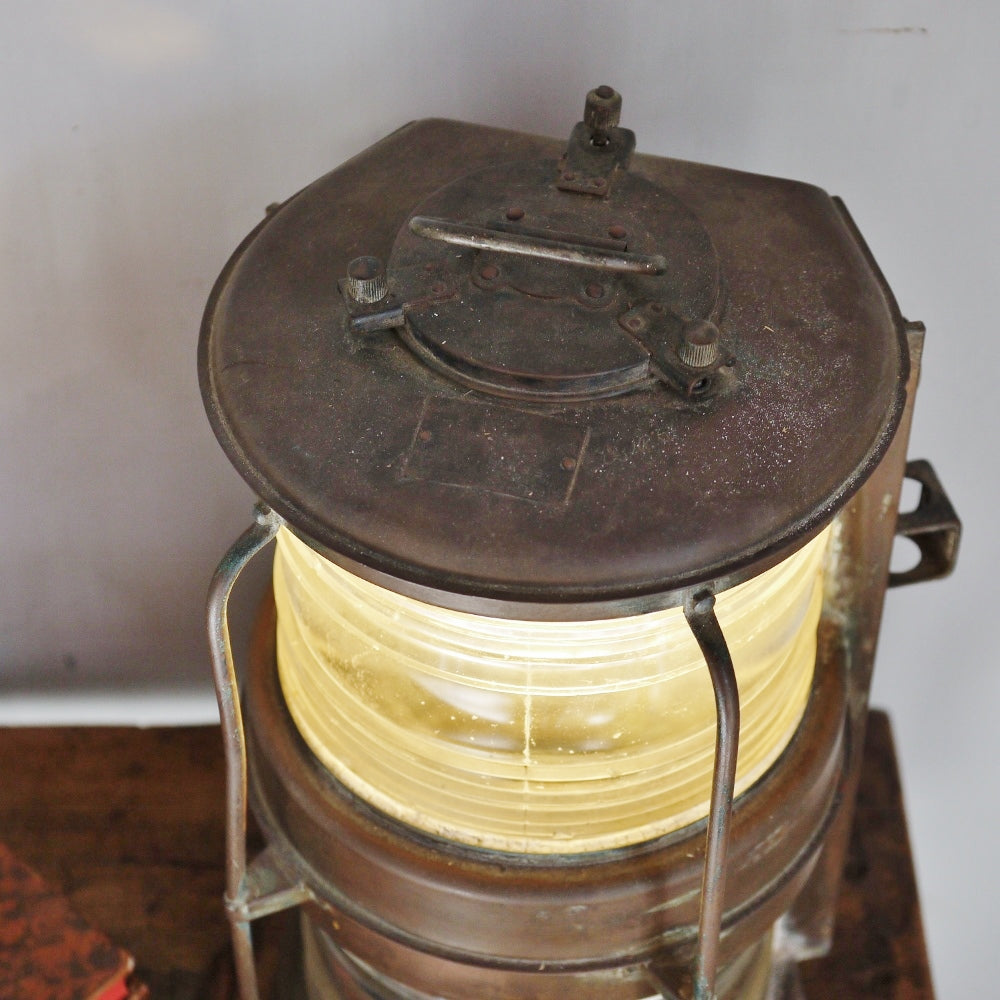 20thC Copper Mast Head Lanterns