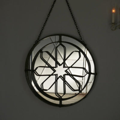 Round Wrought Iron Mirror
