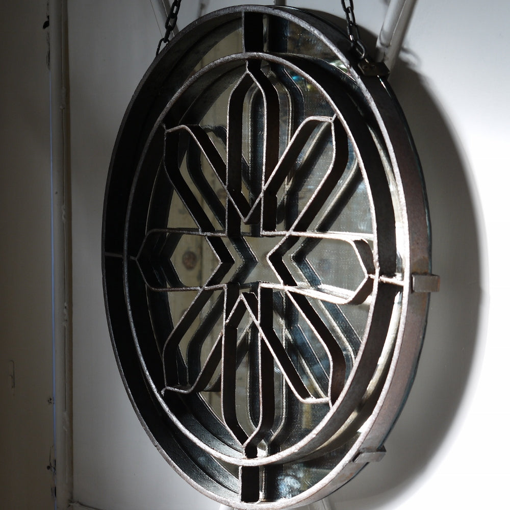 Circular Wrought Iron Mirror
