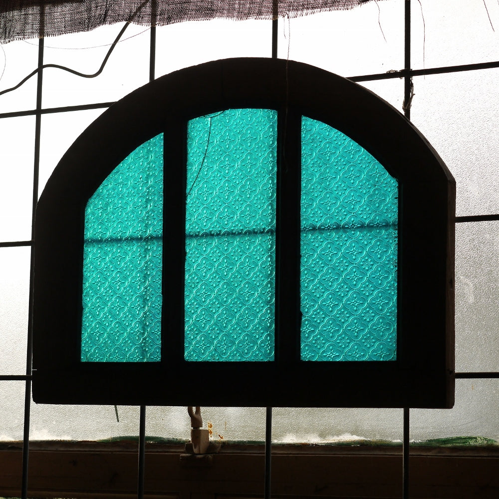 Blue Arched Fanlight