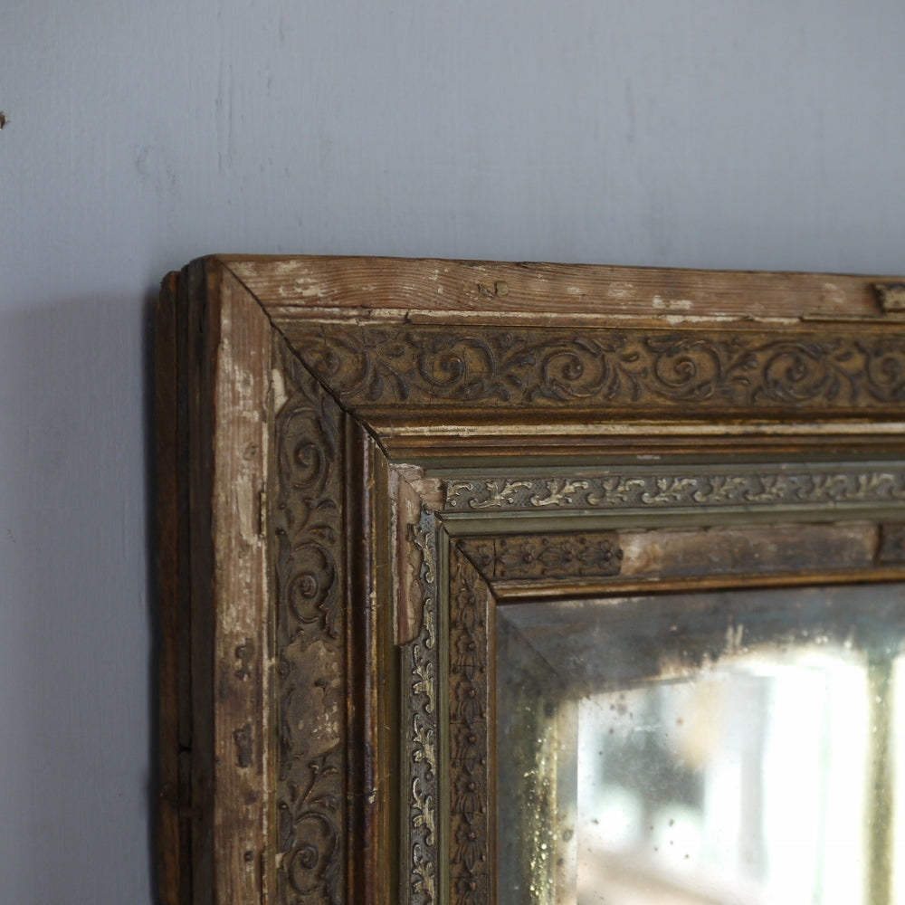 Distressed Mirror & Frame